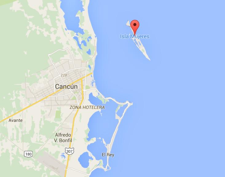 Isla Mujeres a 20 minutos en ferry
