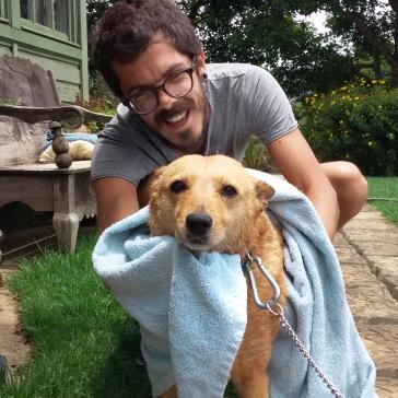 Pimenta se unió a un día de baños y se enamoró de Canela